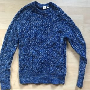 Blue Cable Knit Sweater - NEVER WORN